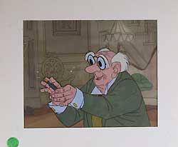 George Hautecourt - Disney's Aristocats Original Production Cel