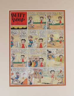 Betty Boop Newspaper Comic Strip image