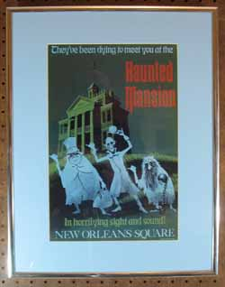 Haunted Mansion Mini Attraction Poster