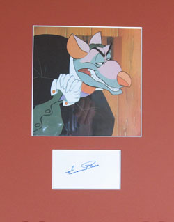 Vincent Price Autograph - Professor Ratigan image