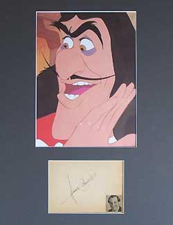 Hans Conreid Autograph - Voice of Captain Hook