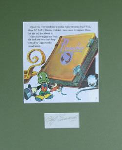 Cliff Edwards Autograph - Voice of Jiminy Cricket image
