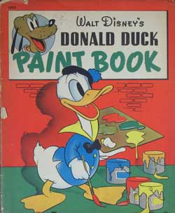 Donald Duck Paint Book image