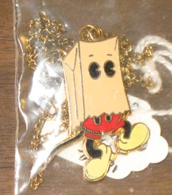 1985 Mouse Club Ward Kimball 'not Mickey' Necklace