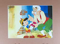 Pinocchio and Gepetto Lithograph