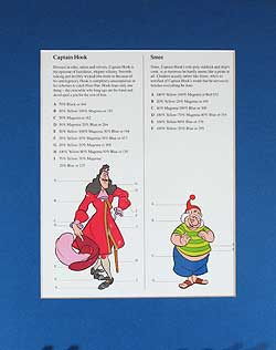 Peter Pan Captain Hook and Mr. Smee Model Sheet image