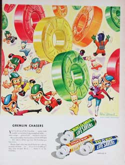 Disney Gremilns Lifesavers Magazine Ad