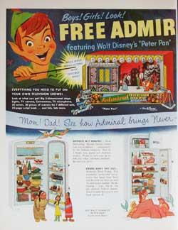 Peter Pan Admiral Magazine Ad image