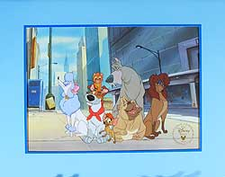 Oliver & Company Disney Store Video Lithograph