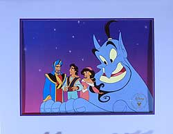 Aladdin King of Thieves Disney Store Video Lithograph image