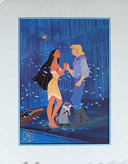Pocahontas Disney Store Video Lithograph image