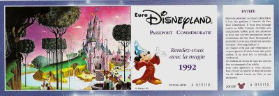 EuroDisney Opening Commemorative Passport