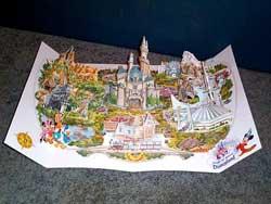 Disneyland 35th Anniversary Pop-Up Map