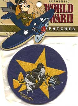 Disney Donald Duck WWII Insignia Cloth Patch