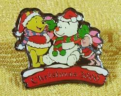Tokyo Disneyland Winnie The Pooh Christmas 2000 Pin image