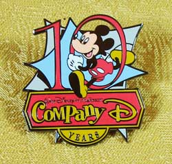 WDW Cast Member Company D 10th Anniversary Pin image