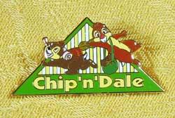Tokyo Disneyland Chip And Dale Bon Voyage Pin
