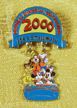 2000 WDW Official Disneyana Convention Dangle Pin image