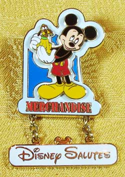 WDW Disney Salutes Merchandise Mickey Cast Member Pin