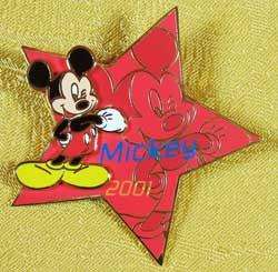 Tokyo Disneyland Starlight Summer 2001 Mickey Pin