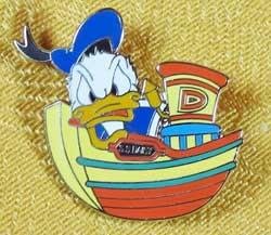 Tokyo DisneySea Donald's Boat Builders Donald Pin image