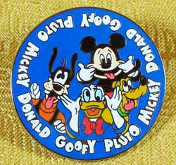Disneyland Paris Fab 4 Silly Faces Pin