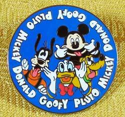 Disneyland Paris Fab 4 Silly Faces Pin image