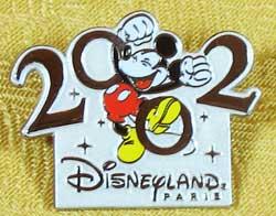 Disneyland Paris Mickey 2002 Pin image