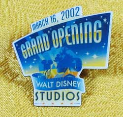 Disneyland Paris Walt Disney Studios Grand Opening Pin