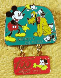 100 Years of Magic Mickey's Pal Pluto Dangle Pin