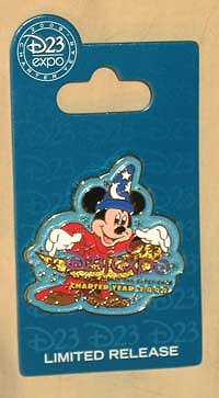 Disney D23 Expo Charter Year Logo Pin image