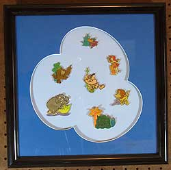 George of the Jungle LE Framed Pin Set