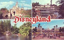 Disneyland 4-Scene Logo Postcard image
