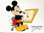 Disney/MGM Gallery Animator Mickey Art Postcard image