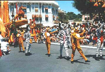Lion King Parade Dancers