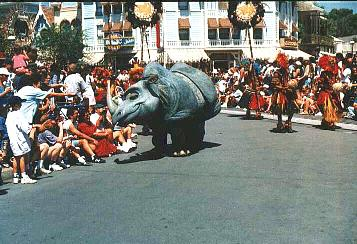 Disneyland Lion King Celebration picture of rhino