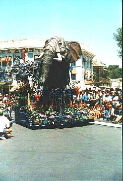 Disneyland Lion King Celebration Parade picture of an elephant